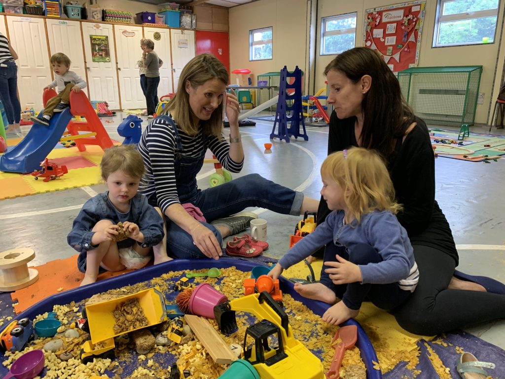 Ducklings Playgroup Mulbarton messy play