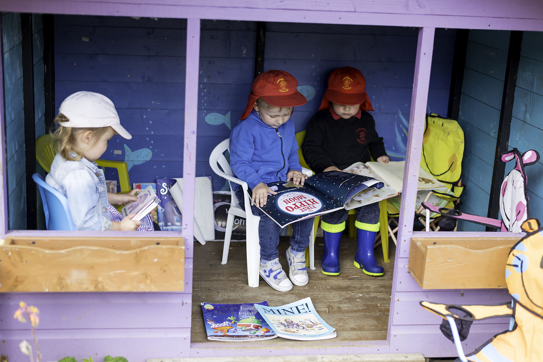 Reading in the playhouse
