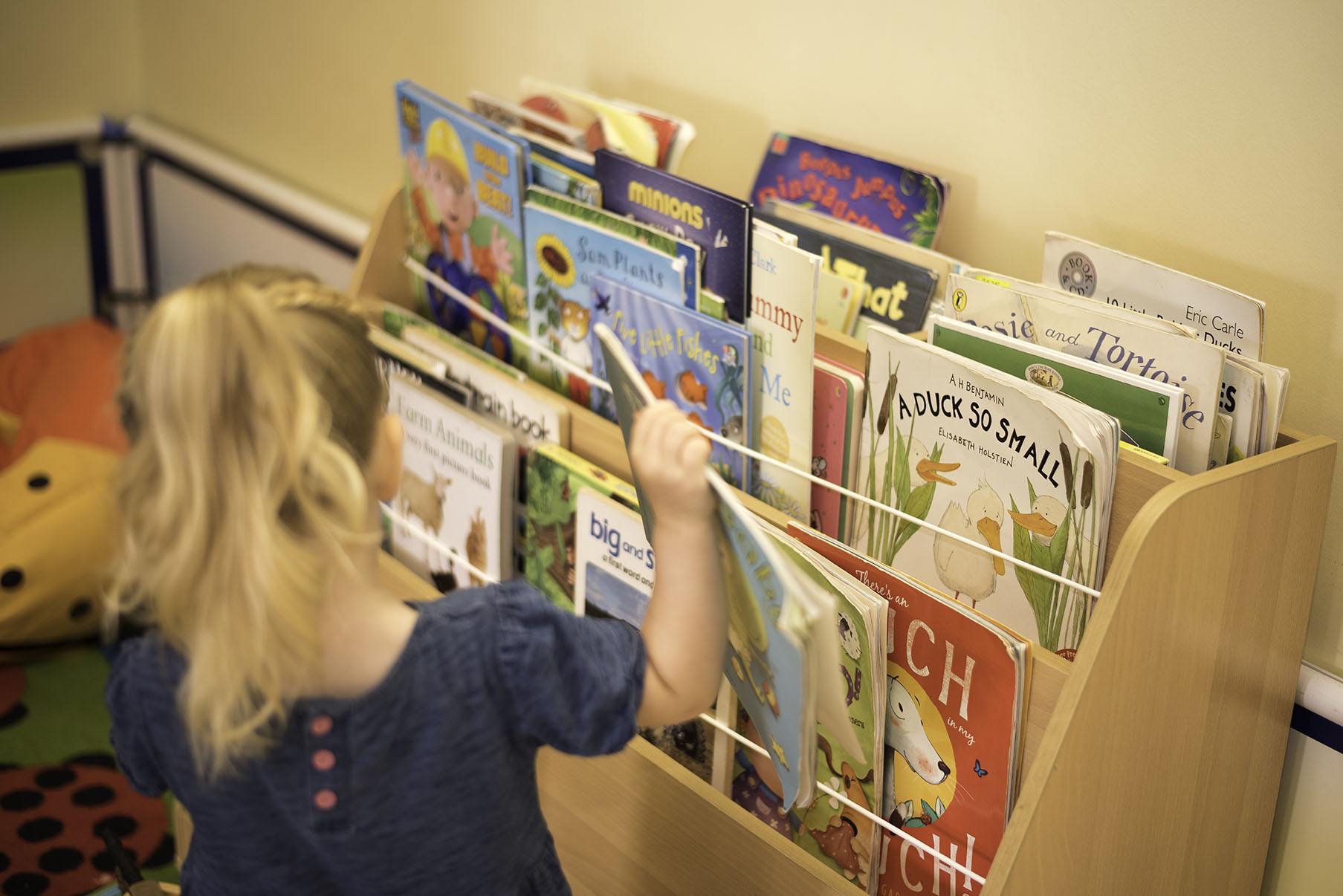 Reading books from our library